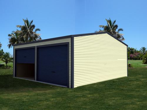 Double garage with side doors