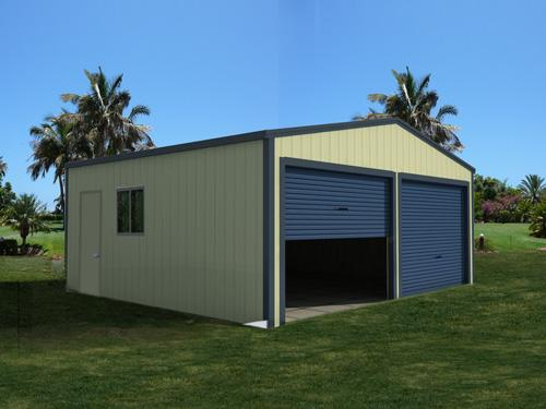 Double Garage with Gable Doors
