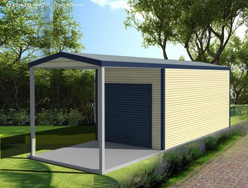 double garage with garaport pacific building company